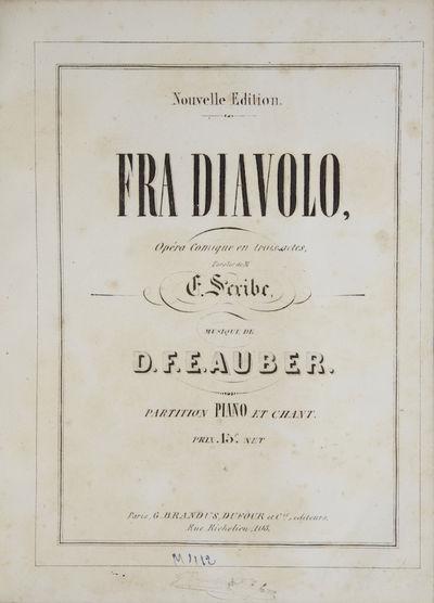 Paris: G. Brandus, Dufour , 1850. Quarto. Half dark blue morocco with textured blue cloth, raised ba...