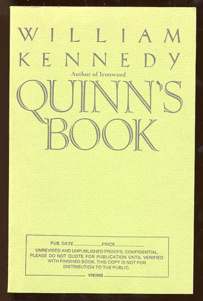 (New York): Viking, 1988. Softcover. Fine. First edition. Fine in wrappers.