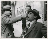 image of Guys and Dolls (Five original candid photographs of Marlon Brando, Frank Sinatra, director Joseph L. Mankiewicz, and composer Frank Loesser from the 1955 film)
