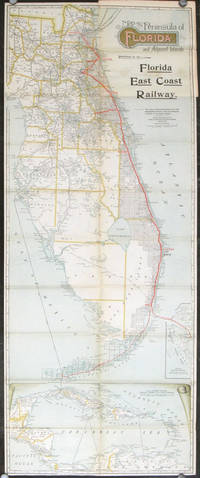 Map of the Peninsula of Florida and Adjacent Islands.  Florida East Coast Railway.