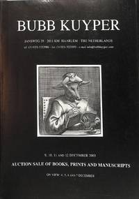 Sale No.39, 9-12 December 2003: Books, Prints and Manuscripts.