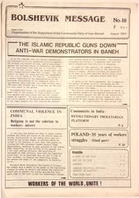 image of Bolshevik Message: paper of the Organisation of the Supporters of the Communist Party of Iran Abroad. No. 10 (August 1984)