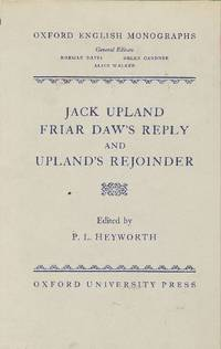 Jack Upland friar daw's reply and upland's rejoinder