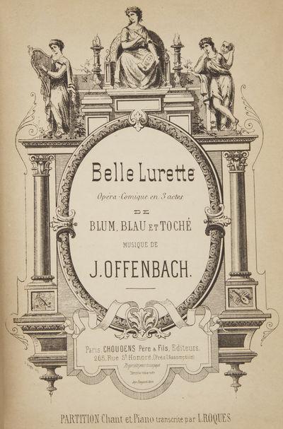 Paris: Choudens Père & Fils , 1890. Large octavo. Full red cloth, titling gilt to spine, marbled en...
