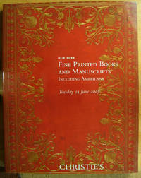 Fine Printed Books and Manuscripts including Americana; 14 June 2005; Sale No. 1534