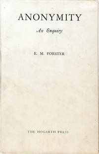 Anonymity by  E.M Forster - Paperback - First Edition - 1925 - from Carpetbagger Books, IOBA (SKU: 3925)
