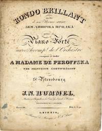 [Op. 98]. Rondo Brillant.. mêlé d'un Theme russe... pour le Piano-Forte avec Accompt. de l'Orchestre. [Solo piano part only].