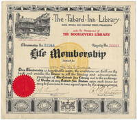 The Tabard Inn Library Life Membership Certificate