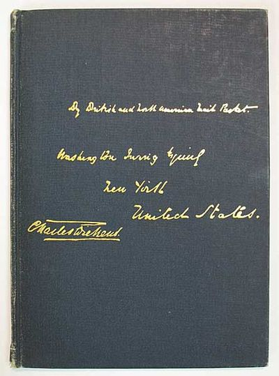 New York: Printed at the De Vinne Press, 1894. 1st edition (BAL Vol 5, p. 195; Miller, p. 31). Not i...