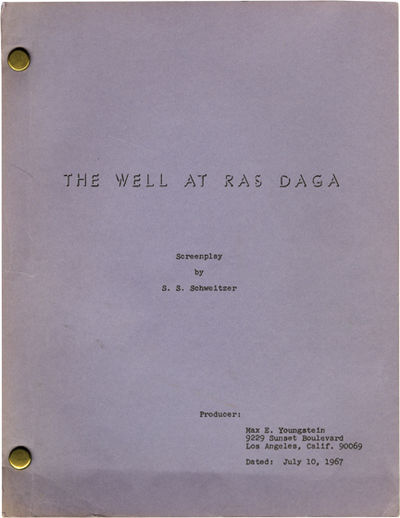 Los Angeles: Max E. Youngstein, 1967. Draft script for an unproduced film. The story of two of broth...