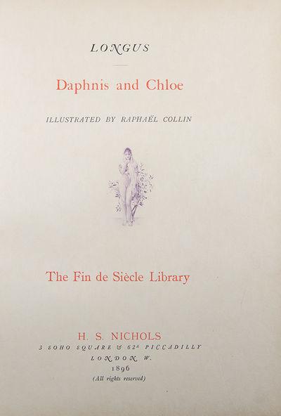 London: H. S. Nichols, 1896. Quarto. 8 1/8 x 10 7/8. xvi, 166pp., viii. Publisher's off-white cloth....