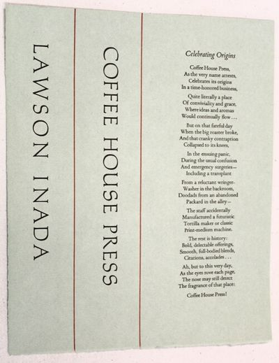 : Coffee House Press, n.d.. 7.5