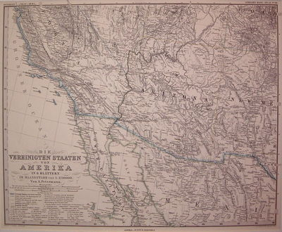 Gotha: Justus Perthes, 1881. unbound. very good. Map. Engraving with original hand colored outline. ...