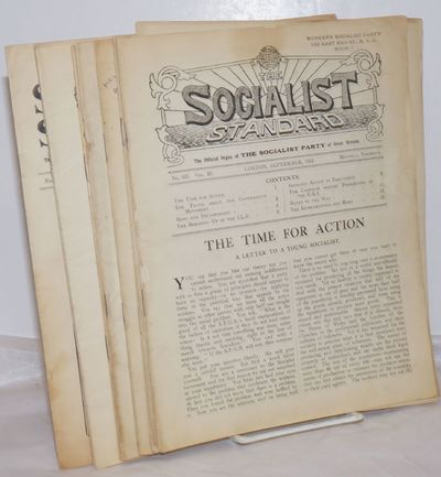 London: The Socialist Party of Great Britain, 1933. Issues 337-340, 345-349. Various pagination, all...