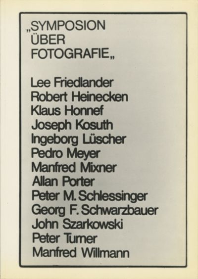 Graz: Fotogralerie im Forum Städtpark, 1979. First edition. Heinecken. 4to., 150 pp., numerous text...