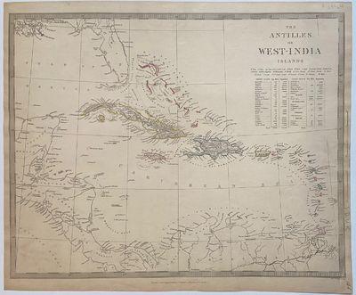 London: Baldwin & Cradock, 1844. unbound. Map. Engraving with hand coloring. Sheet measures 16.25