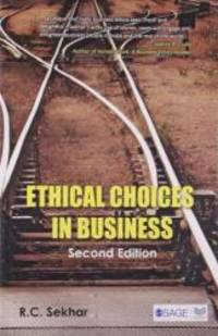 Ethical Choices in Business (Response Books) by S C Sekhar - 2003-01-14 - from Books Express and Biblio.com