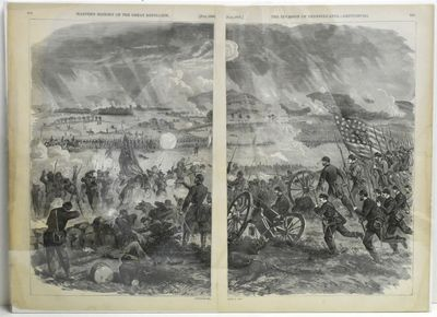 Harper's Pictorial History of the Great Rebellion, 1868. Original Engraving. The dramatic engraved i...