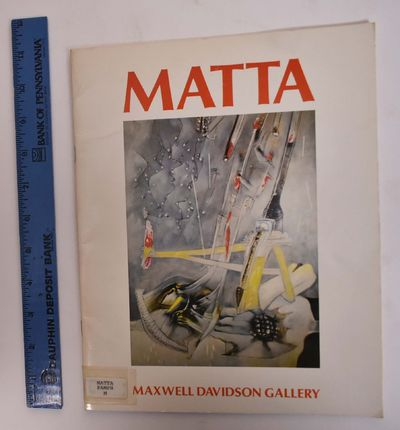 New York: Maxwell Davidson Gallery, 1974. Softbound. VG- (Slight soiling and aging to white cover; i...