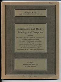 Catalogue of Impressionist and Modern Paintings and Sculpture 2 Dec 1970