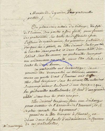 COMTE DE ROCHAMBEAU (JEAN-BAPTISTE DONATIEN DE VIMEUR) (1725-1807). Rochambeau was a French nobleman...