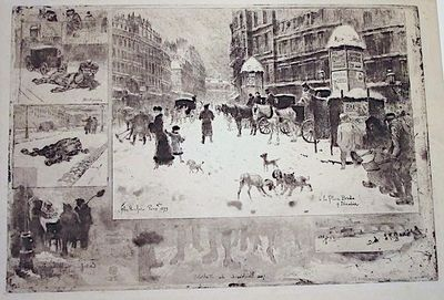 1879. Etching, aquatint, roulette and drypoint Bourcard-Goodfriend 128, ii-iii/ix, Cate 9 Rare proof...