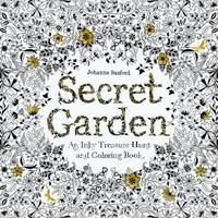 Secret Garden : An Inky Treasure Hunt and Coloring Book (for Adults, Mindfulness Coloring)