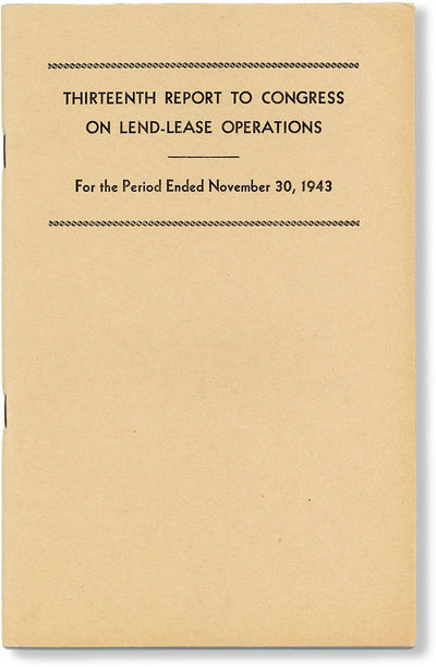 , 1943 . First Edition. Octavo (23cm.); publisher's tan printed staplebound card wrappers; 71pp.; il...