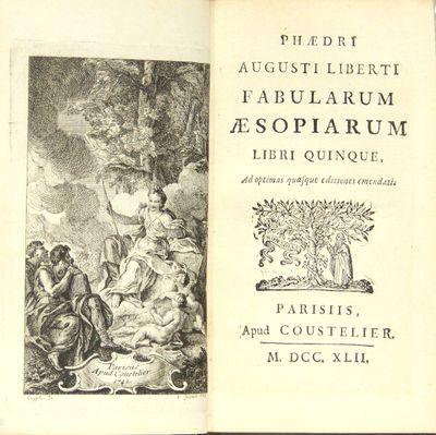 Paris: apud Coustelier, 1742. Small 12mo, pp. , 132; engraved frontispiece after Antoine Coypel; eng...