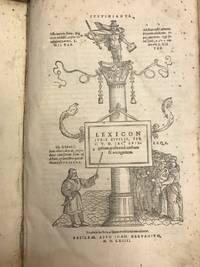 LEXICON IVRIS CIVILIS, PER C.V.D. IAC. SPIEgelium, postremò auctum & recognitum....