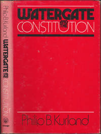 image of Watergate and the Constitution (The William R. Kenan, Jr., Inaugural Lectures)