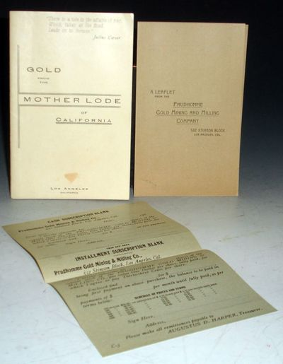 Los Angeles, CA. . 12mo. 36 unnumbered pages. Laid in is a facsimile of the original cash subscripto...