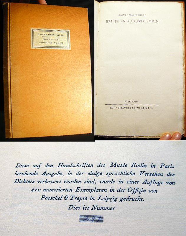 rilke essay on rodin Rodin has pronounced rilke's essay the supreme interpretation of his work (from the translators' preface) auguste rodin, 1840-1917, was a french sculptor although .
