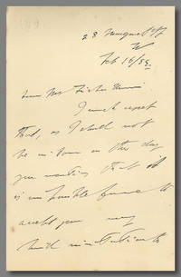 [Autograph Letter, Signed, to T. Fisher Unwin]