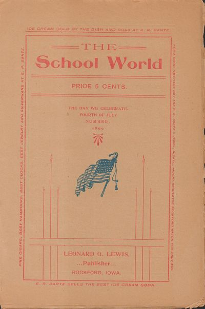 Rockford, IA: Leonard G. Lewis. Good. 1899. Pamphlet. Buff wraps with red lettering and blue illustr...