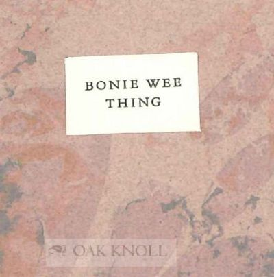 Los Angeles: (Lorson's Books), 1990. stiff marbled paper wrappers, paper label on front cover. Minia...