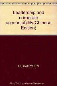 Leadership and corporate accountability
