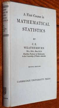 image of A First Course In Mathematical Statistics