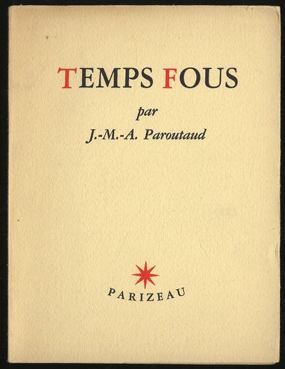 Montreal, Canada: Parizeau, 1946. Softcover. Near Fine. First Canadian edition. Near fine in wrapper...