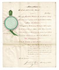 Attractive one-page autograph document appointing James A. Milliken commissioner of the affairs of the Penobscot and Passamaquoddy Indians