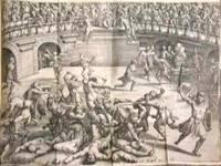 Saturnalium Sermonum Libri Duo, Qui de Gladiatoribus. Noviter correcti, auct, & Formis aeneis illustrati by LIPSIUS, Justus [1547-1606] - 1585