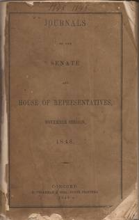 image of Journal of the Honorable Senate; Journal of the House of Representatives of the State of New Hampshire, 1848