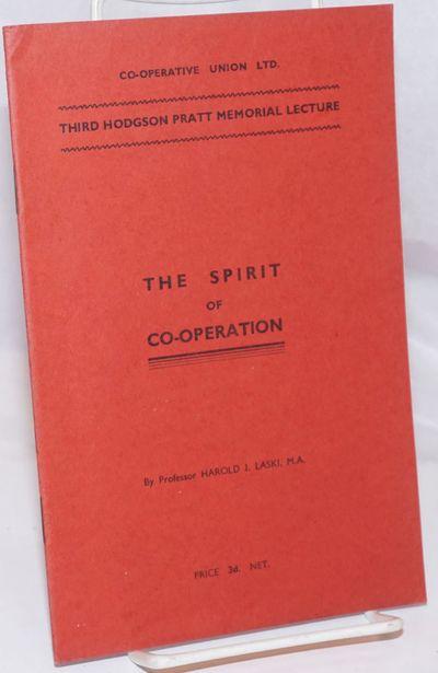 London: Co-operative Union Ltd, 1936. 23p., stapled wraps, 5.5 x 8.5 inches,