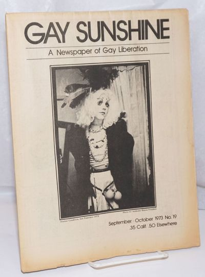 San Francisco: Gay Sunshine, 1973. Newspaper. 20p., folded tabloid newspaper, illustrations, poetry,...