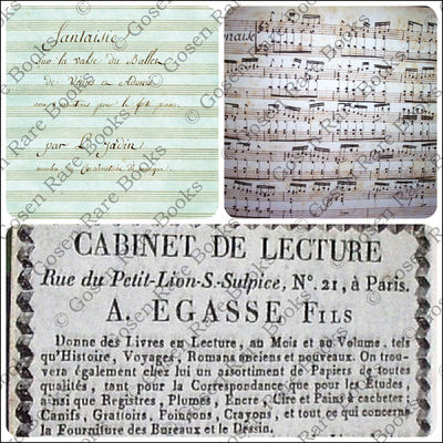 Unpublished. Hardcover. Fine. Jadin, Louis-Emmanuel (1768 1853). Musical Manuscripts Album, Containi...