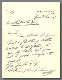 [Two Autograph Letters, Signed]