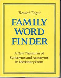 image of Family Word Finder A New Thesaurus of Synonyms and Antonyms in Dictionary  Form