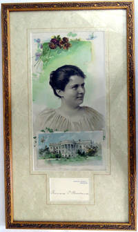 Autograph Card; Attractively framed with personal photo and White House by  Frances Cleveland - 1893 - from Montgomery Rare Books & Manuscripts and Biblio.com
