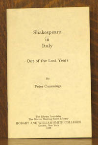 SHAKESPEARE IN ITALY - OUT OF THE LOST YEARS