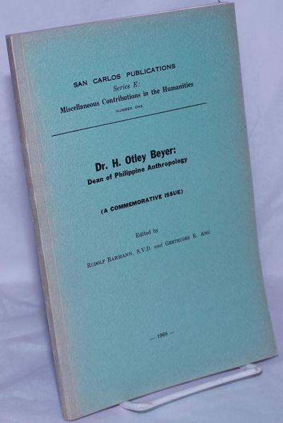 Cebu City: The University of San Carlos (Divine Word University), 1968. Paperback. 124p., illustrate...